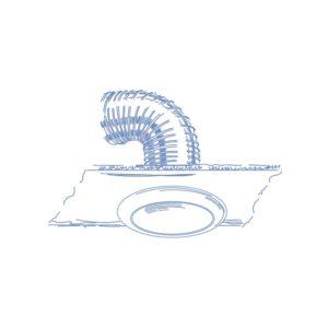centrální rekuperace talířový ventil